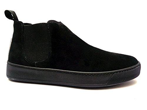 Frau 20F2 scarpe casual da uomo beatles in camoscio Nero,n. 39