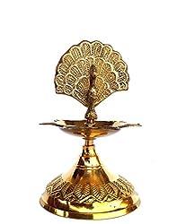 Rastogi Handicrafts Pure Brass Diya (Puja Lamp) Hindu Pooja Article ,Diyas , Deepak Oil Lamp