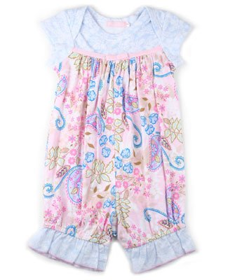Baby Nay Perfectly Paisley Ruffled Romper - Buy Baby Nay Perfectly Paisley Ruffled Romper - Purchase Baby Nay Perfectly Paisley Ruffled Romper (Baby Nay, Baby Nay Apparel, Baby Nay Toddler Girls Apparel, Apparel, Departments, Kids & Baby, Infants & Toddlers, Girls, Pants)