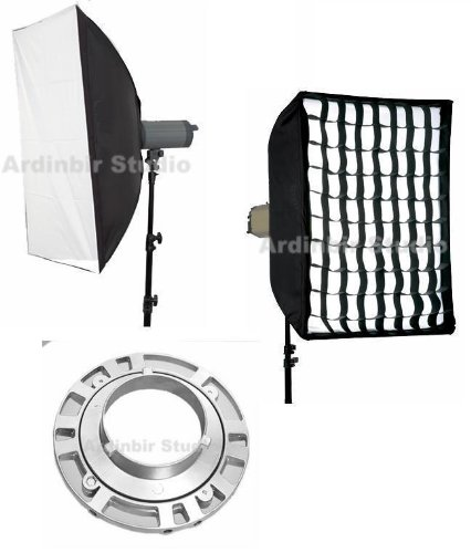 Ardinbir Studio 35x35 90cm x 90cm Softbox Diffuser with Eggcrate Grid for Bowens, Visico, Mettle, Fancier, Calumet Flash Monolights godox 250 studio flash set softbox photographic equipment