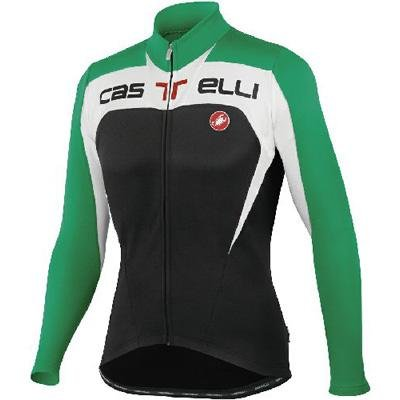 Buy Low Price Castelli 2012/13 Men's Contatto Full Zip Long Sleeve Cycling Jersey – A11511 (B005JVVVYY)