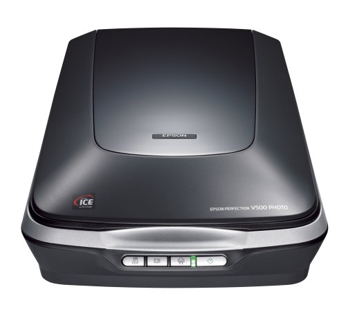 Epson Perfection V500 Photo Scanner (6400dpi, 3.4 Opt Density, USB 2.0)