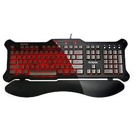 Saitek Eclipse Backlit Keyboard - Red LED ( PZ30AUR )