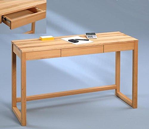 HomeTrends4You-613517-Konsole-Schreibtisch-120-x-75-x-42-cm-Kernbuche-massiv-gelt