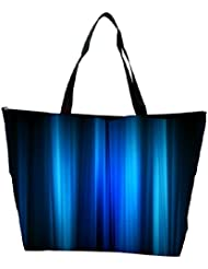 Snoogg Abstract Blue Strips Designer Waterproof Bag Made Of High Strength Nylon