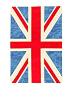 ABC Tappeti Alfombra Ikat Cotton Uk (Azul)