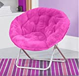 Mainstays Faux-Fur Saucer Chair, (Pink)