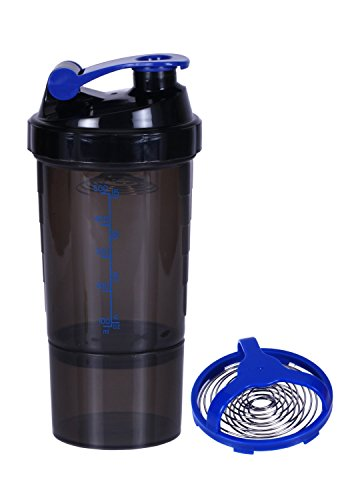 Speed Shaker Cup, Shaker Bottle, Blander Bottle, Protein Shaker Bottle (Black And Blue)