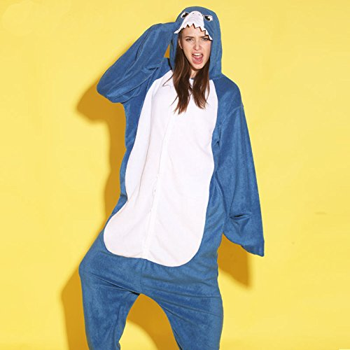Women Men Shark Unisex Adult Animal Sleep Suit Cosplay Kigurumi Costume Pajamas Outfit Costume Nightclothes Onesies Clothing Pajamas Tracksuit