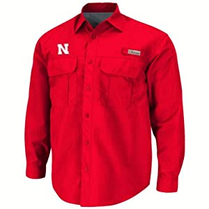 Nebraska Cornhuskers Outrigger Red Fishing Shirt by Chiliwear by Chiliwear LLC