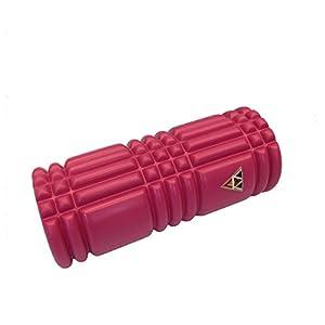 Triggerpoint-VGV-Faszienroller (pink) NEU HIGH QUALITY Massageroller Foamroller Triggerpunktroller zur Selbstmassage Stärke medium in 3 tollen Farben inkl. Übungsbildern und Anleitungen