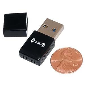 Protronix 802.11N/G USB Wireless LAN WIFI Adapter for Laptop Notebook, Black