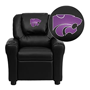 Flash Furniture Kansas State University Wildcats Embroidered Black Vinyl Kids... by Flash Furniture