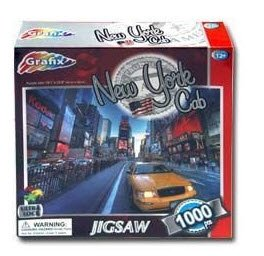 Grafix Ultra Lock 1000 Piece Jigsaw Puzzle- New York Cab