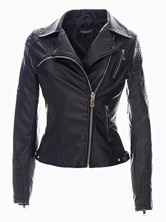 violet leather fashion damen lederjacke bikerjacke aus pu. Black Bedroom Furniture Sets. Home Design Ideas