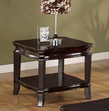 Cheap End Table with Storage Shelf in Deep Espresso Finish (VF_701067)