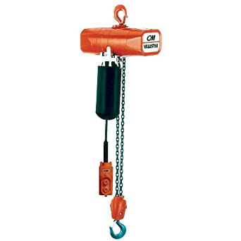 CM Valuestar Electric Chain Hoist, Single Phase, Hook Mount