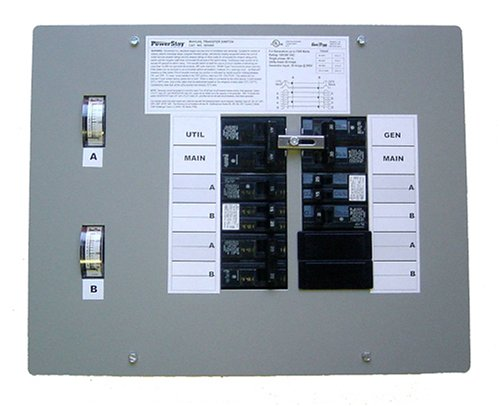 GenTran 300660 30-Amp 6-Circuit Manual Transfer Switch for Generators up to 3750-Watt