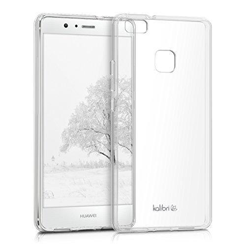 kalibri-Crystal-Case-Hlle-Sunny-fr-Huawei-P9-Lite-transparente-Kunststoff-Schutzhlle-mit-TPU-Silikon-Rahmen-in-Transparent