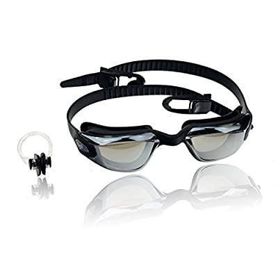 Best Value Mirrored Leakproof Anti Fog UV Protection Kids Swim Goggles with Free Nose Clip - Comfortable Reflective Tinted Lens Youth Swim Glasses for Boys & Girls - Lifetime Warranty! from MOMA GROUP LIMITED