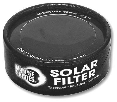 "Solar Filter 76Mm/3.00"" - Black Polymer - Binoculars, Telescopes And Cameras - Eclipse Viewing, Sunspots, Solar Flares"