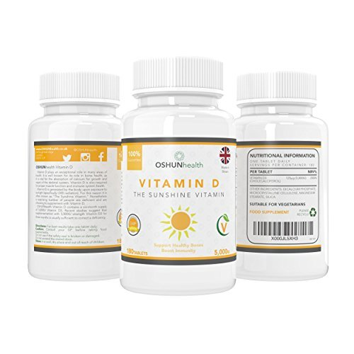 Vitamin-D-Tablets-Healthy-Joints-and-Bones-Immunity-Support-5000iu-Vitamin-D3-Supplement-180-Pills-Six-Month-Supply-Suitable-For-Vegetarians-UK-Produced-GMP-Certified-OSHUNhealth-Limited-Time-Introduc