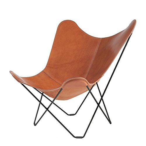 Pampa Mariposa Butterfly Chair dark brown/Polo 66/frame black