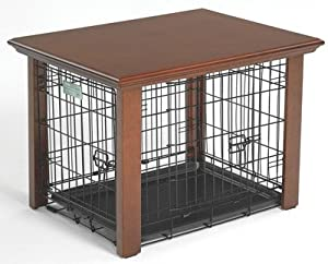 Amazon.com : Midwest Wooden Dog Crate Table Cover 24In : Pet Kennels ...