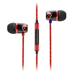 SoundMagic E10C In-Ear Headphones with Mic (Red)