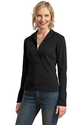 Port Authority Women's Port Authority Ladies Flatback Rib Full-Zip 4XL Black