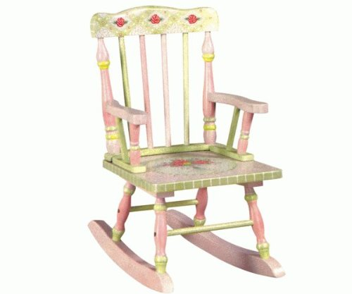 Teamson Crackle Finish Nursery Furniture Rocking Chair