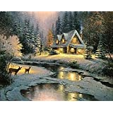 Springbok Puzzle - Thomas Kinkade Deer Creek Cottage - 2000 Piece