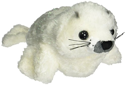 "Ganz 8.5"" Sparkle Harp Seal, White - 1"