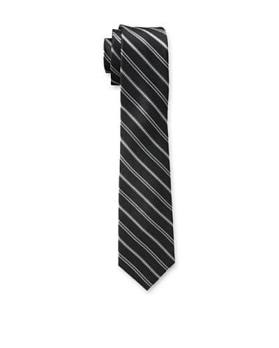 Ben Sherman Men's Sheridan Stripe Tie, Black