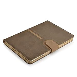 Jellybean Leather Wallet Flip Case Cover for iPad 2/3 and 4 - Brown