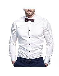 Bombay Shirt Company Satin White Men Regular Fit Formal Shirt