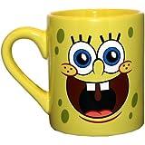 Silver Buffalo SG0132 SpongeBob Face Ceramic Mug, 14 oz, Yellow