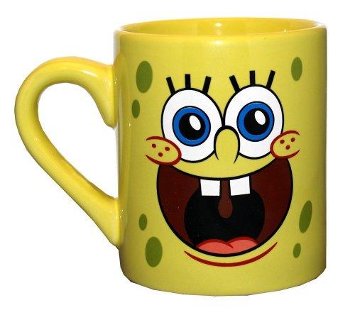 Silver Buffalo SG0132 SpongeBob Face Ceramic Mug, 14 oz, Yellow (Spongebob Coffee Cup compare prices)