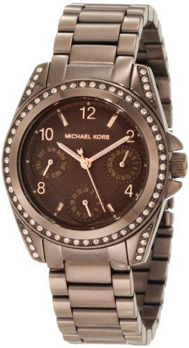 Michael Kors Mini-Size Blair Multi-Function Glitz Watch, Espresso