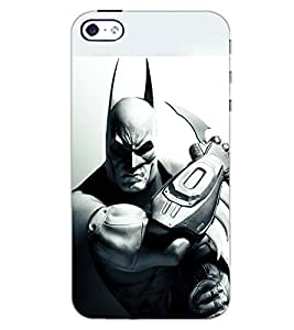 PrintDhaba BAT SHADOW D-6594 Back Case Cover for APPLE IPHONE 5S (Multi-Coloured)