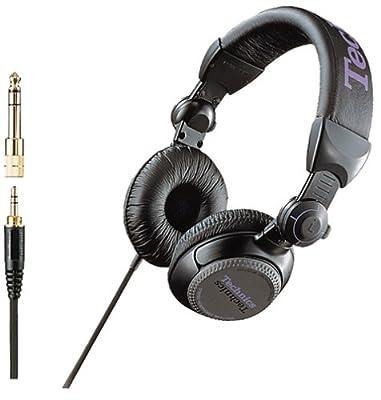 Panasonic Technics stereo headphones black RP-DJ1200-K
