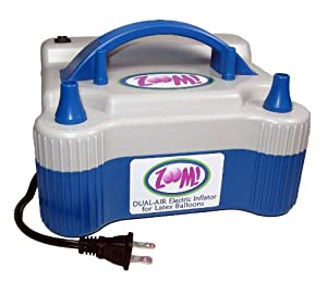 Dual Nozzle Electric Balloon Pump - Electric Balloon Inflator - Balloon Air Inflator by Zephyr Solutions