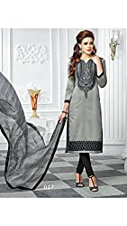 Grey Colour New Cotton Salwar Suit