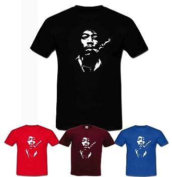"Jimi Hendrix Smoking T Shirt (Small (34/36""), Black)"