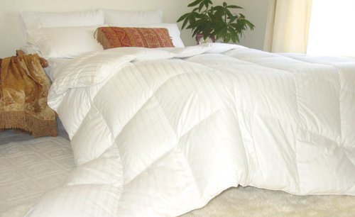 Review Natural Comfort Soft and Luxurious 310TC Sateen White Down Alternative Duvet Insert, King