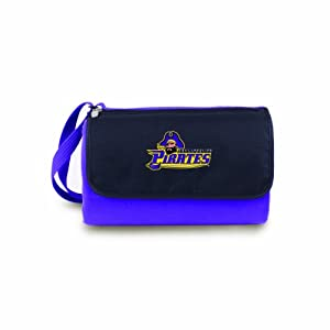 NCAA East Carolina Pirates Outdoor Picnic Blanket Tote, Purple by Picnic Time