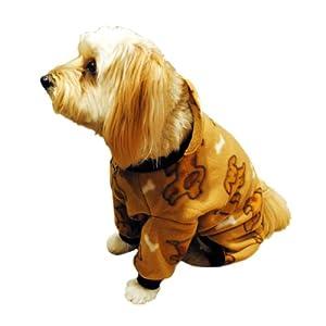 Pedigree Perfection PJP22-08-BGE Pet Threads Beige Doggie Polarctic Fleece Pajamas for Your Dog, 8-Size
