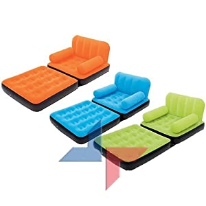 couleur orange chauffeuse design lit d 39 appoint matelas pneumatique fauteuil gonflable canape 1. Black Bedroom Furniture Sets. Home Design Ideas