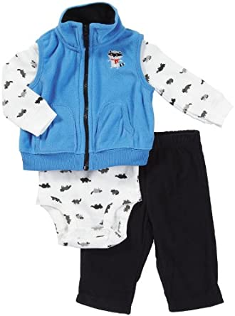 """Carter\\\'s Baby-boys \\\""""Little Hero\\\"""" 3-Piece Outfit"""
