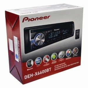 PIONEER DEH-X6600BT CD RECEIVER WITH MIXTRAX(TM), BLUETOOTH(R), ANDROID(TM) MEDIA ACCESS, 2 SETS RCAS